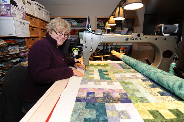 Photo of Sharon Peach; Surfing The Quilt!